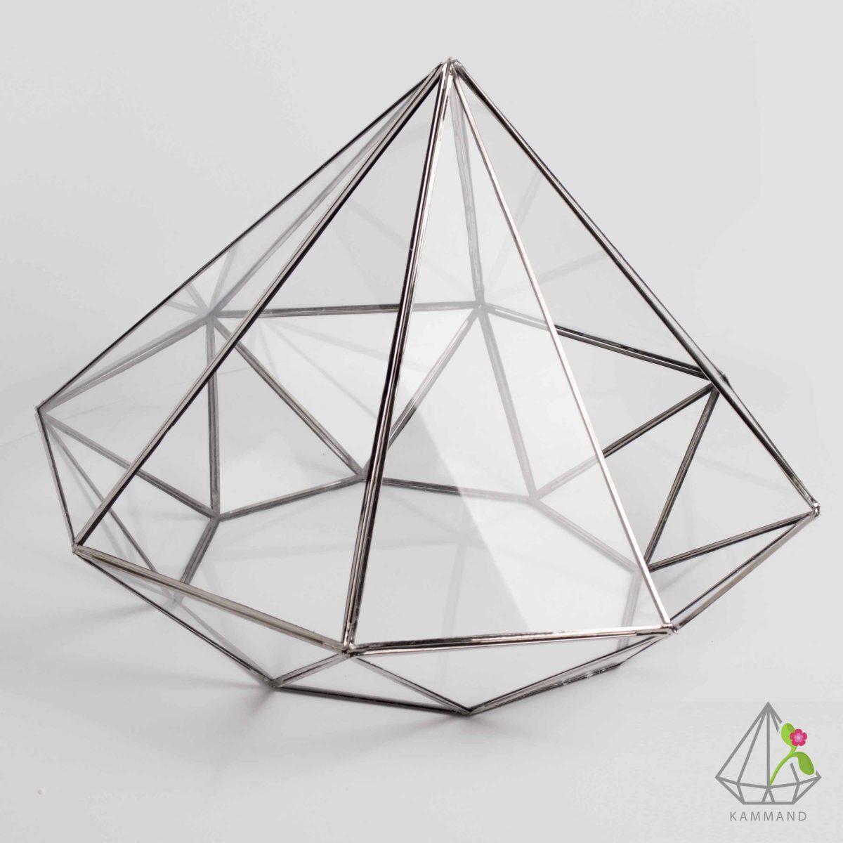 ظروف تراریوم، تراریوم چند وجهی ، تراریوم الماس ،گلدان شیشه ای، تراریوم، باغ شیشه ای ، فروشگاه اینترنتی کمند