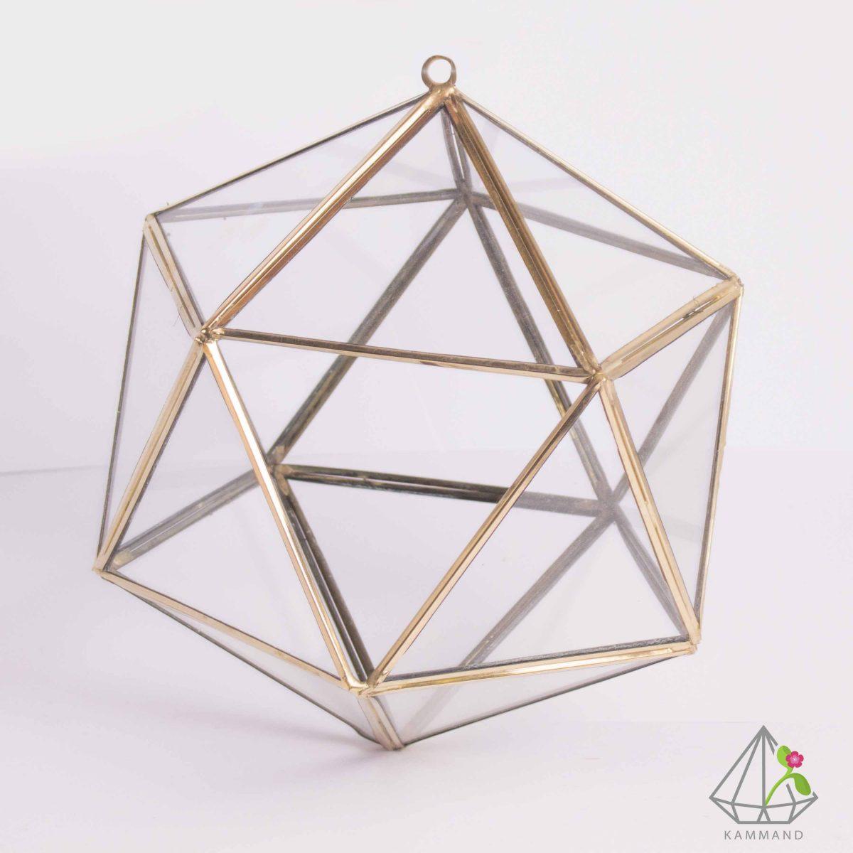 ظروف تراریوم، تراریوم چند وجهی ، تراریوم چند ضلعی آویز، تراریوم آویز ،گلدان شیشه ای، تراریوم، باغ شیشه ای ، فروشگاه اینترنتی کمند