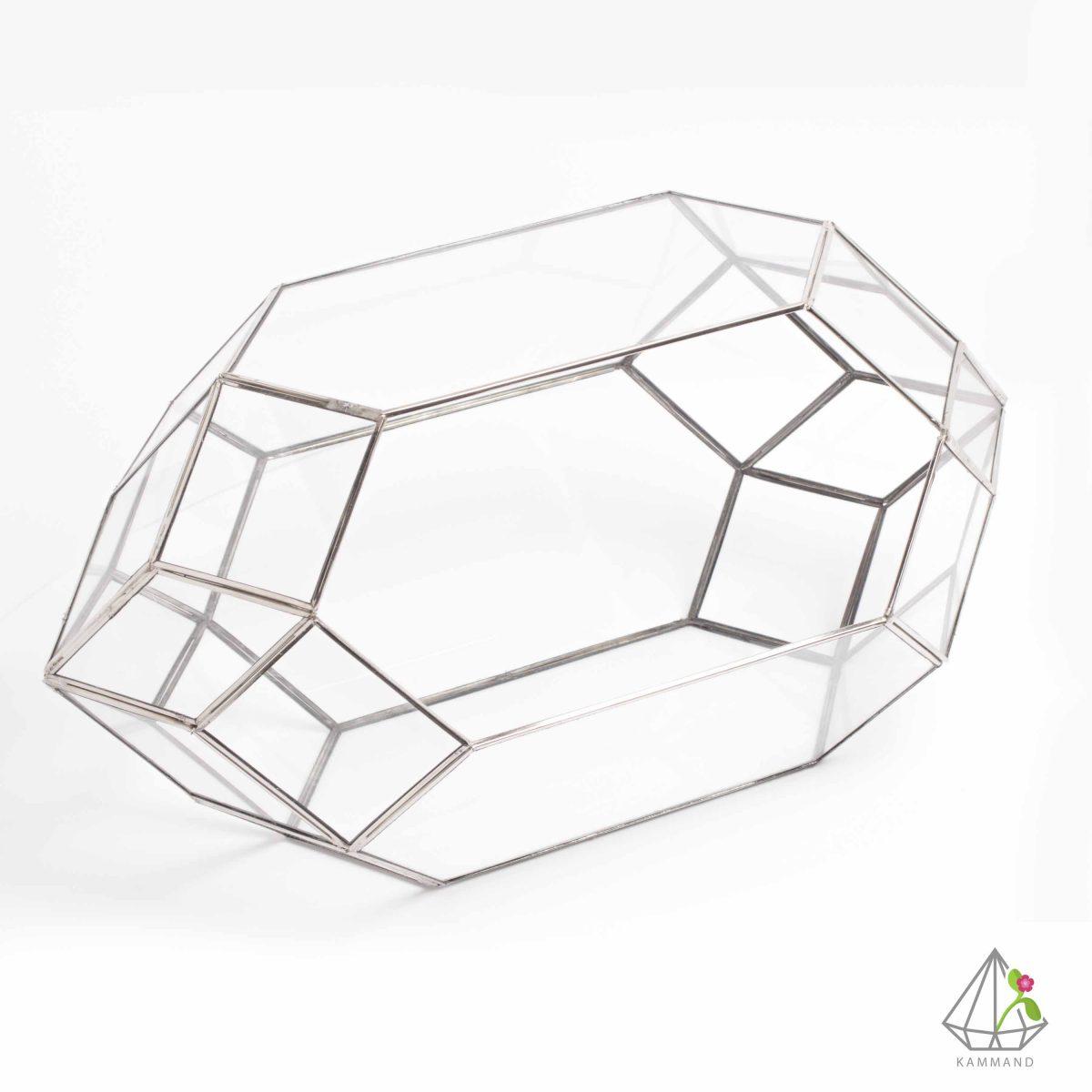 ظروف تراریوم، تراریوم چند وجهی ، تراریوم چند وجهی، تراریوم آویز ،گلدان شیشه ای، تراریوم، باغ شیشه ای ، فروشگاه اینترنتی کمند
