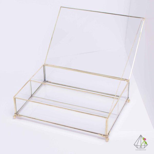 جعبه کارد و چنگال،جعبه های شیشه ای لوکس،جعبه شیشه ای، جعبه تی بگ،ظروف تراریوم، فروشگاه اینترنتی کمند
