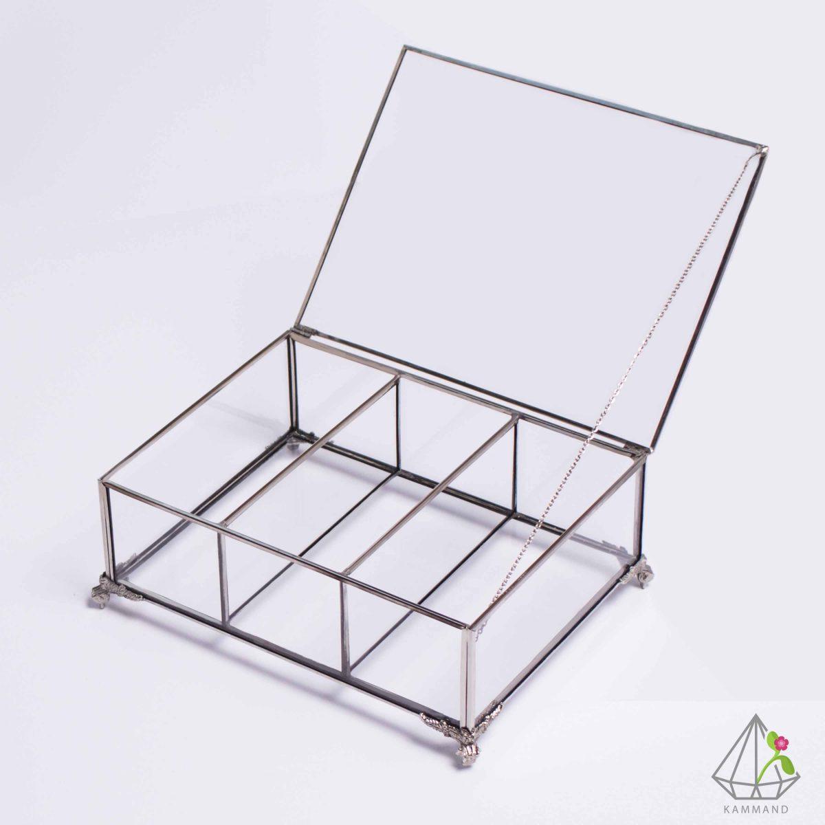 جعبه تی بگ،جعبه تی بگ سه ردیغه، جعبه لوکس؛جعبه پذیرایی،ظروف تراریوم،فروشگاه اینترنتی کمند