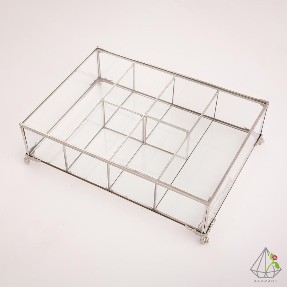 جعبه تی بگ، باکس تی بگ،جعبه تی بگ شیشه ای، جعبه تی بگ کمند، فروشگاه اینترنتی کمند، ظروف تراریوم